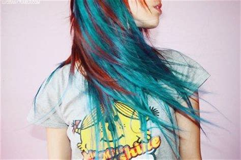 red hair with blue highlights natural red hair with turquoise streaks hair pinterest