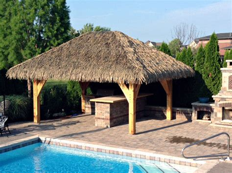 tiki hut roof clip palmex 174 artificial synthetic palapa thatch roofing