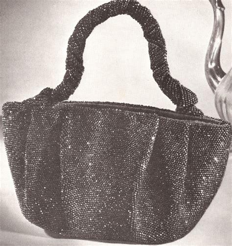 vintage handbag pattern vintage 1940s crochet beaded bag purse handbag pattern ebay