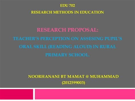 Thesis Proposal Presentation Template Powerpoint Research Template