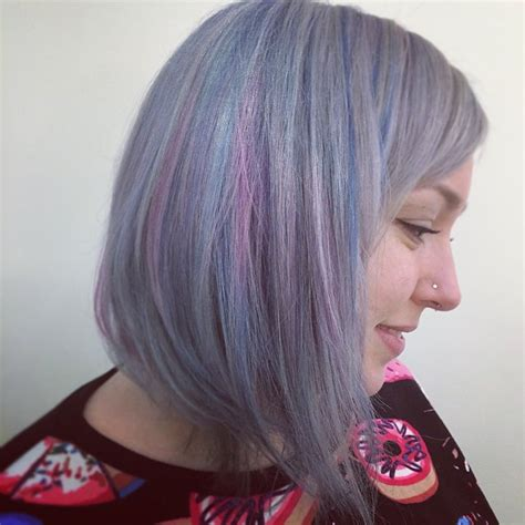 pictures of grey hairstyles with pink highlights platinum highlights on gray hair newhairstylesformen2014 com