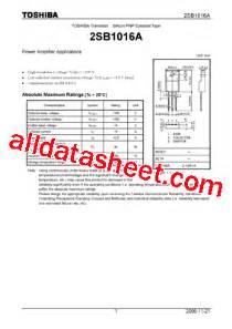 a1027 transistor datasheet datasheet transistor fn 1016 28 images ta6038fn