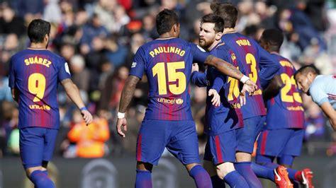barcelona hasil hasil liga spanyol malam ini barcelona vs celta vigo