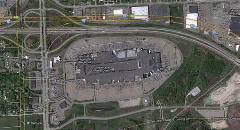 great lakes crossing map architecture branding discount fashion retailer steve and barry s departs with few tangible