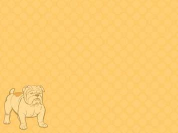 dog bulldog 03 powerpoint templates