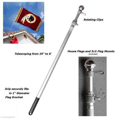 aluminum 6 flag pole ebay