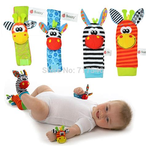 Kaos Kaki Animal Panjang by Buy Get 4 Pcs 1 Set Rattle Bayi Zebra Gelang Tangan Kaos
