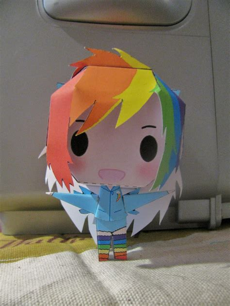 Rainbow Dash Papercraft - mlp fim rainbow dash paperdoll by x0xchelseax0x on