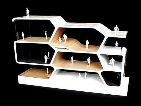 models of parti model section shan masuda architecture studio