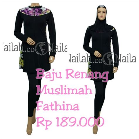 Baju Renang Muslimah Rahmani baju renang muslimah fathina harga rp 189 000 terbuat
