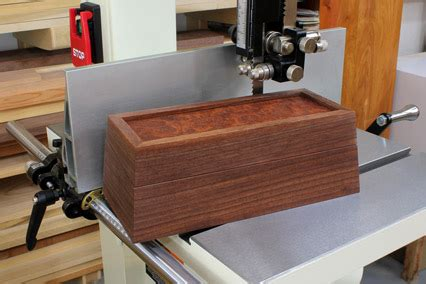woodworking project continuous grain tapered box