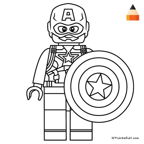 coloring pages lego captain america how to draw captain america lego marvel s studio