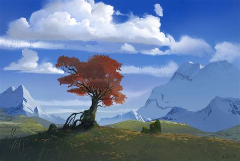 Landscape Illustration Sublime Landscape Illustrations By Ani Roschier