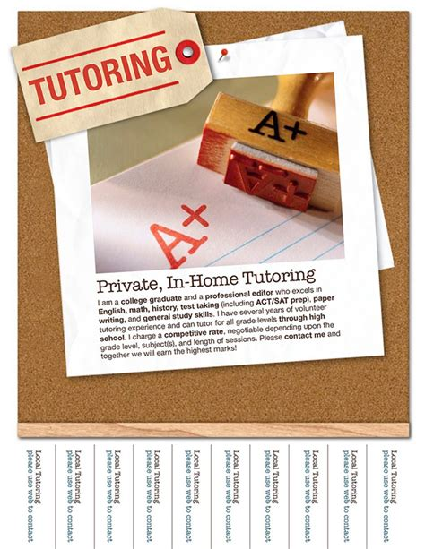 15 Cool Tutoring Flyers Printaholic Com Tutoring Flyer Template