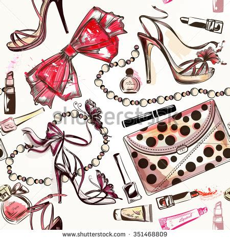 fashion vector seamless background with pink