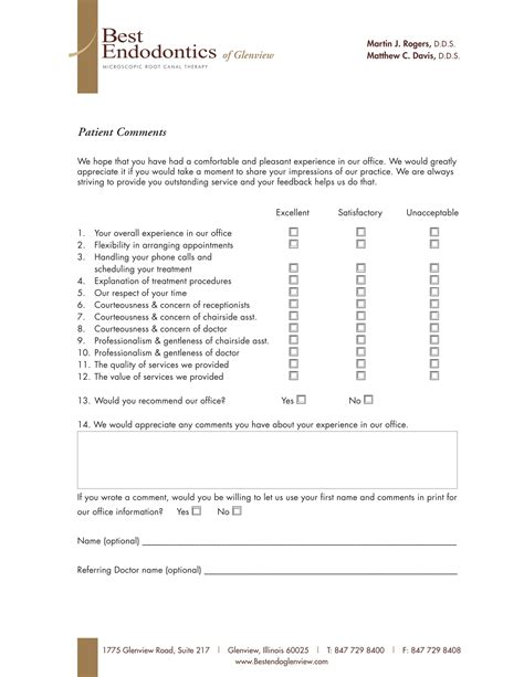comment card template for office how comment cards can impact customer experience