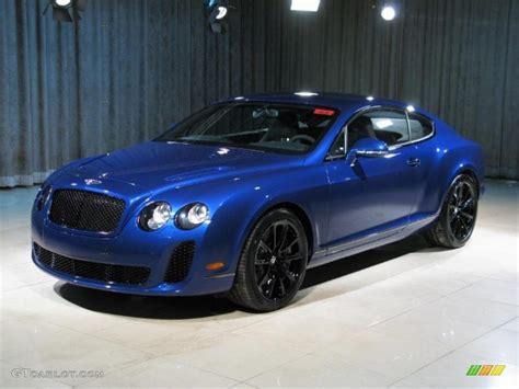 2010 Moroccan Blue Bentley Continental Gt Supersports