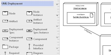 visio uml shapes create a uml deployment diagram office support