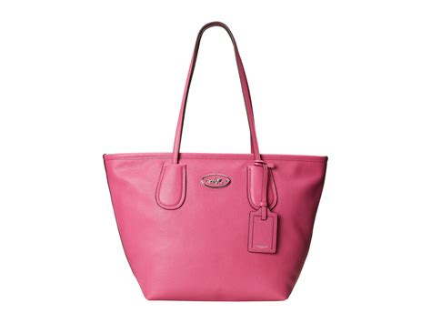 Coach Zip Tote coach embossed leather taxi zip tote in pink sv fuchsia