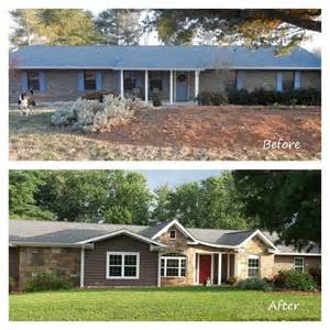 70s house remodel before and after remodeled ranch homes before and after before and after exterior renovation ranch house