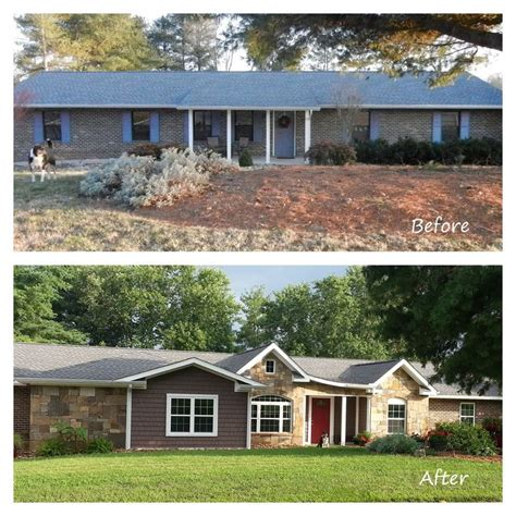 remodeled ranch homes before and after before and after exterior renovation ranch house