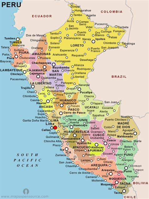 peru political map general info peru