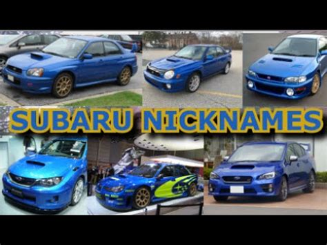 Subaru Nicknames What S With All The Quot Quot