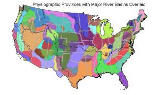 physiographic map of united states attributes for nhdplus catchments version 1 1 for the
