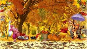 winnie the pooh thanksgiving wallpaper winnie the pooh fall other amp nature background