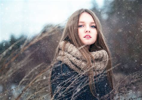 girl with brown hair in snow images little girls brown haired girls winter snow