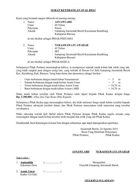 contoh surat kuasa hibah tanah wisata dan info sumbar