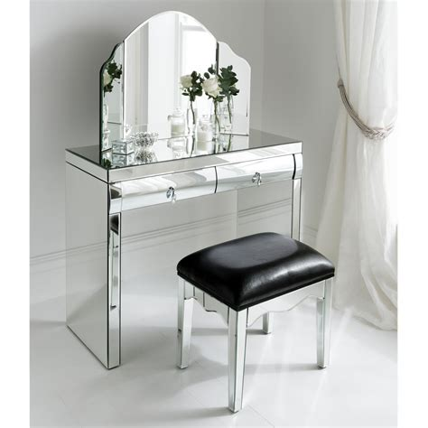 mirrored dressing table rimini mirrored dressing table set