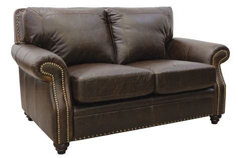 brown loveseats new luke leather furniture italian made quot mason quot chocolate