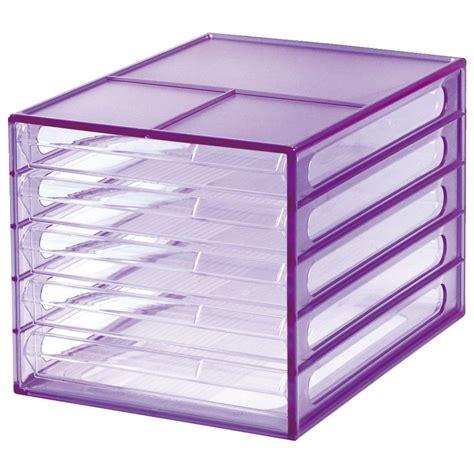 Desktop Plastic Organizer j burrows desktop file storage organiser 5 drawer purple