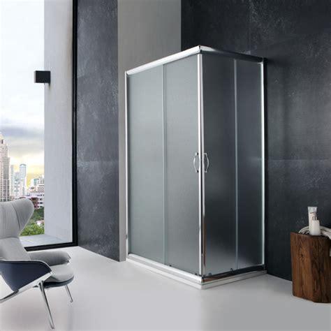 piatto doccia angolare 70x90 doccia 70x90 angolare cristallo opaco ante scorrevoli kv