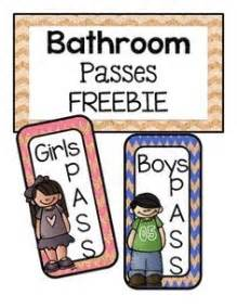 bathroom passes printable potty passes on pinterest hall pass lanyards and bathroom