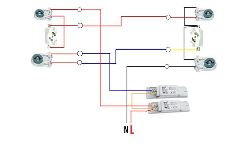 fluorescent lights wiring diagram parallel