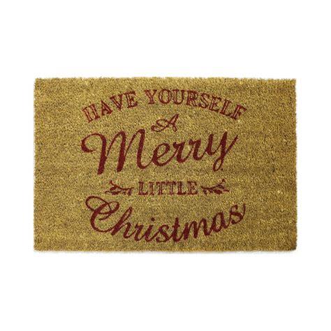 brown merry christmas coir amp pvc doormat l 600mm w 400mm