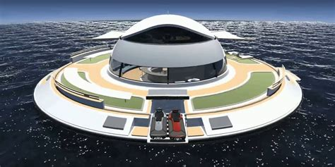 floating boat house ufo the italians created a floating ufo house earth