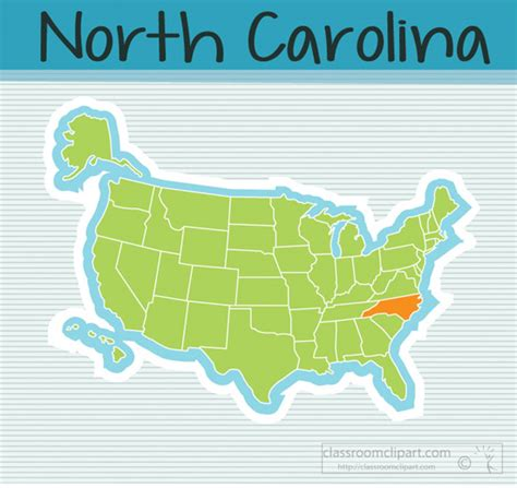 north carolina state clipart  map state north carolina
