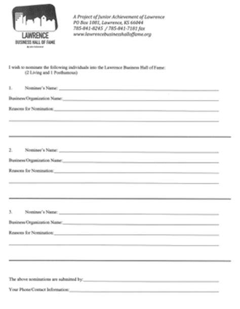 Oscar Ballot Word Document