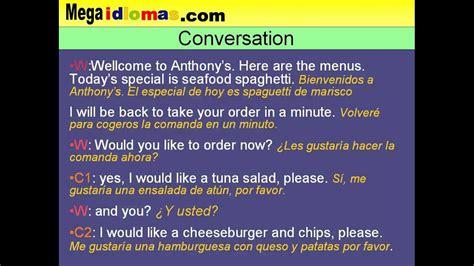 preguntas en ingles acerca de viajes conversaci 243 n en ingl 233 s de restaurante comer fuera de casa