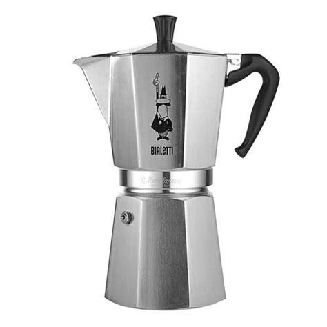 Bialetti Mokapot 1 Cup Italy Kopi Espresso bialetti moka express 9 cup stovetop espresso maker shopcookware co uk