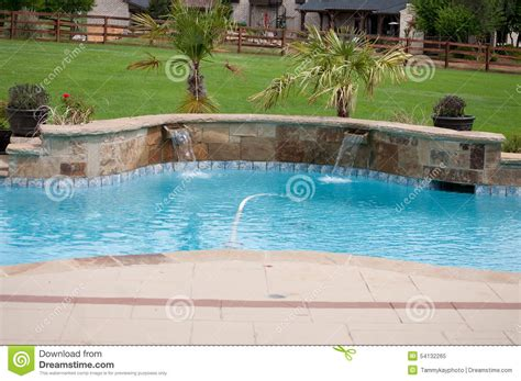 beautiful swimming pools residential beautiful swimming pool stock photo image