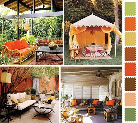 Outside Home Decor | 5 outdoor home decorating color schemes and patio ideas