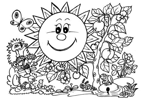 coloring pages spring nature nature coloring page coloring home