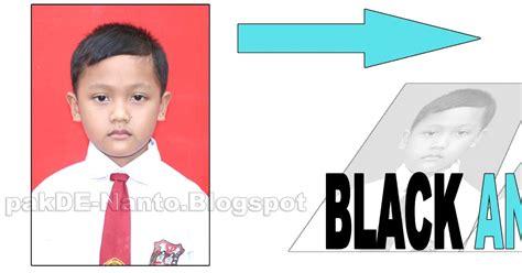 membuat foto hitam putih  photoshop sarahituaku