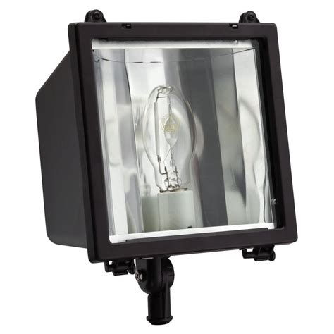 Commercial Grade Outdoor Lighting Lithonia Lighting Commercial Grade 150 Watt Bronze Outdoor Metal Halide Flood Light Oflc 150m Tb