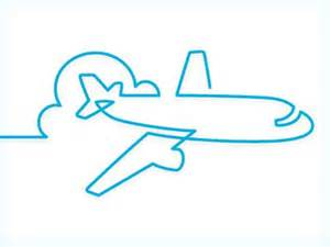 Simple airplane line illustration very well done team tatted