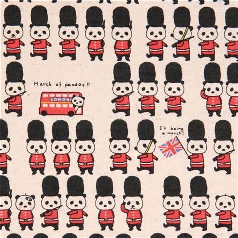Sprei Single Motif Panda colored panda buckingham palace guard uk canvas fabric from japan animal fabric